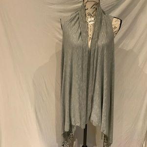 Jackets & Blazers - EUC-gray loose fitting drapy vest